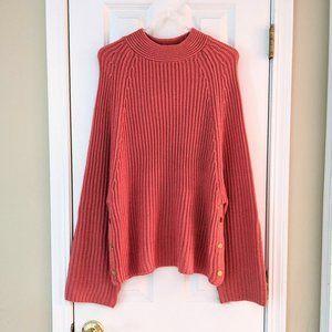 HYFVE Mock Neck Oversized Sweater, size Small